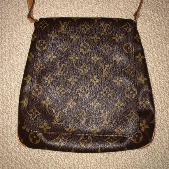 1c294605913c Louis Vuitton Handbags - Louis Vuitton Monogram Canvas Brown Saddle Bag
